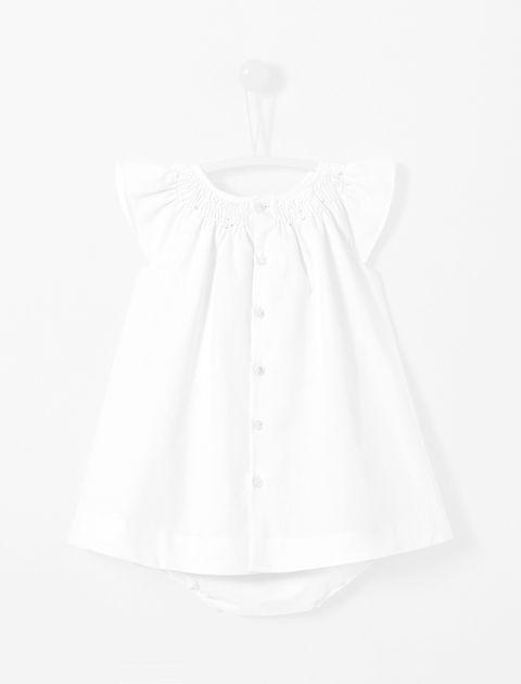 پیراهن نخی نوزادی دخترانه Loggia - سفيد - 2