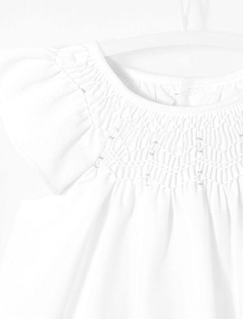 پیراهن نخی نوزادی دخترانه Loggia - سفيد - 3