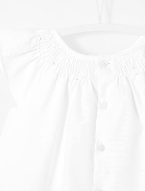 پیراهن نخی نوزادی دخترانه Loggia - سفيد - 4
