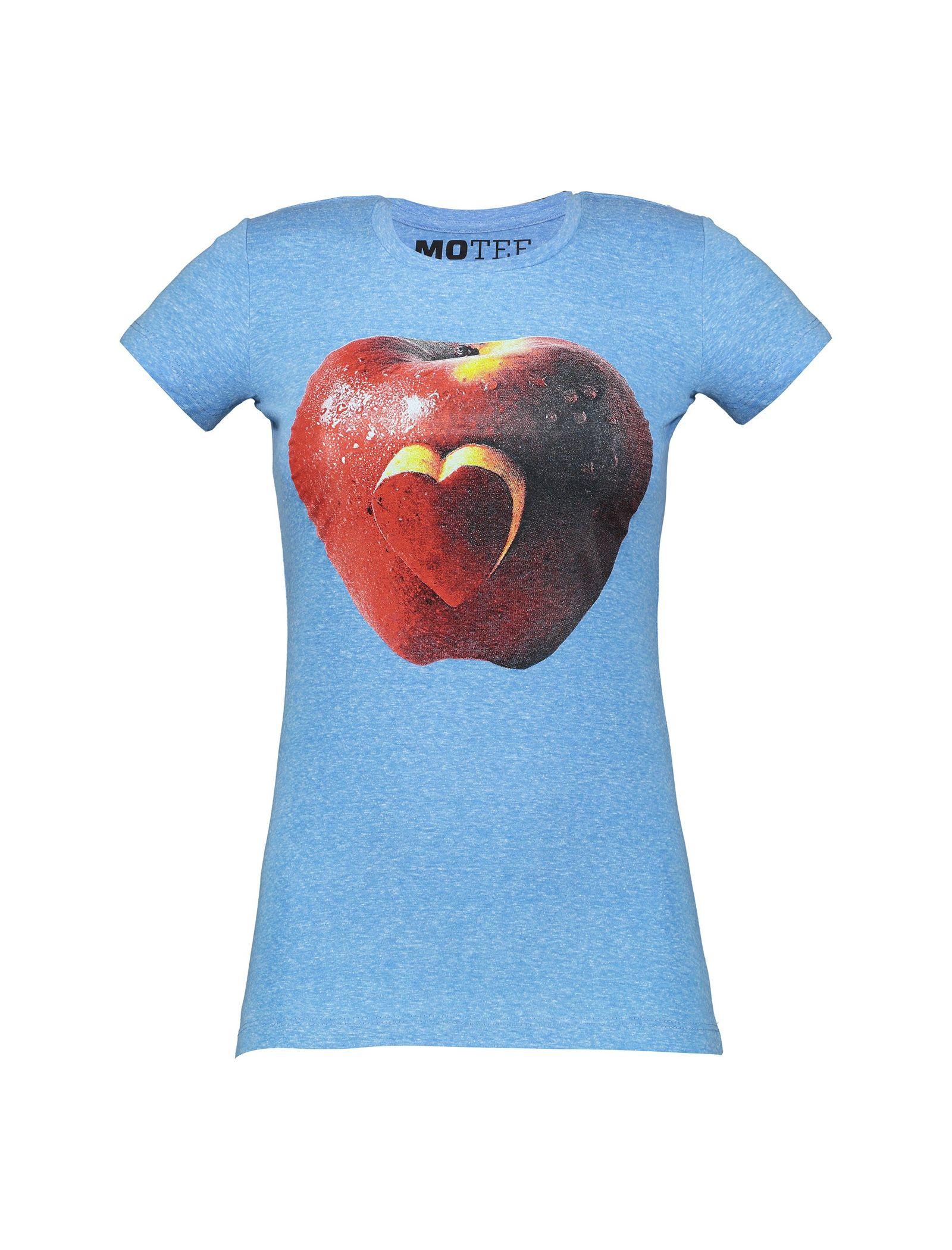 تی شرت یقه گرد زنانه - متی - آبي - 1