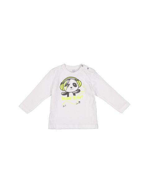 تی شرت نخی آستین بلند نوزادی پسرانه - ایدکس - سفيد - 1