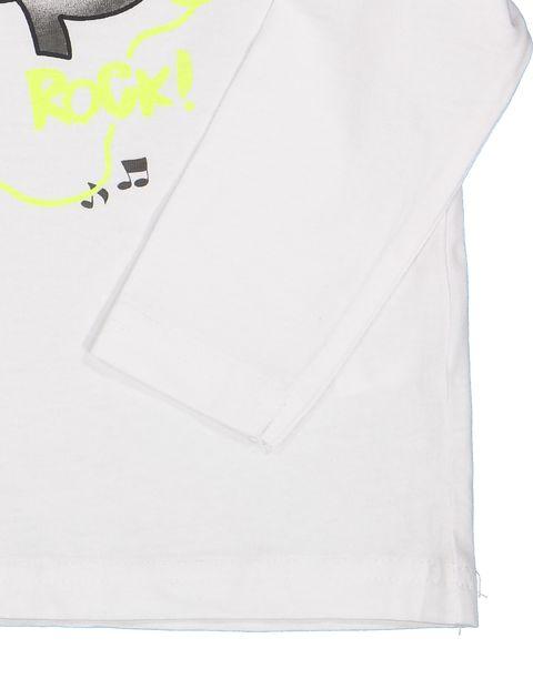 تی شرت نخی آستین بلند نوزادی پسرانه - ایدکس - سفيد - 3