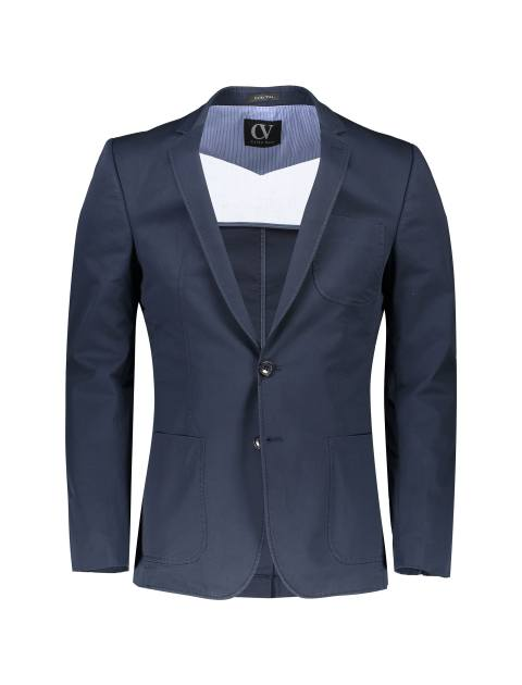 کت تک غیر رسمی نخی مردانه - سرمه اي - 1