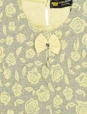 بلوز و شلوار نخی دخترانه مدل گل - تدی بیر - زرد - 5