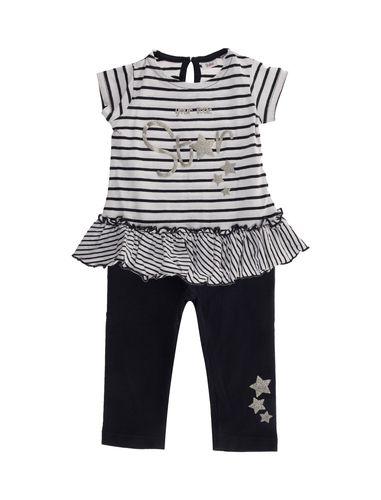 پیراهن و شلوار نخی نوزادی دخترانه - بلوکیدز