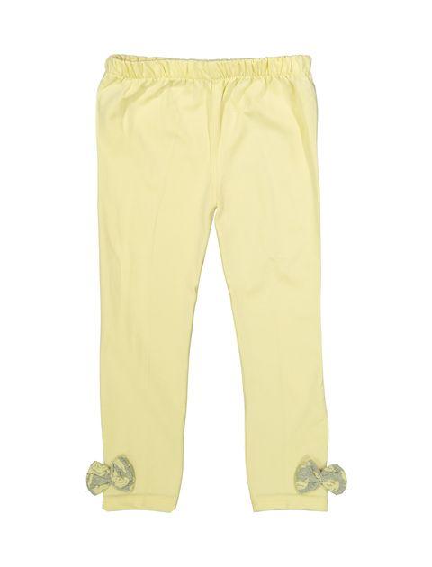 بلوز و شلوار نخی دخترانه مدل گل - تدی بیر - زرد - 6