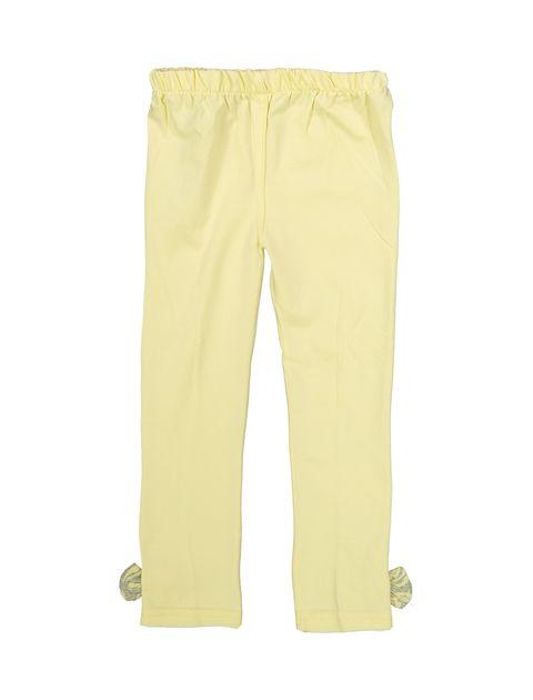 بلوز و شلوار نخی دخترانه مدل گل - تدی بیر - زرد - 7
