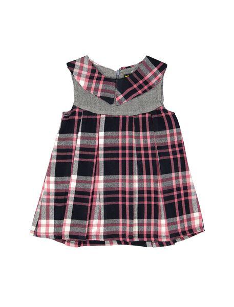 پیراهن روزمره دخترانه مدل 971 - صورتي - 1