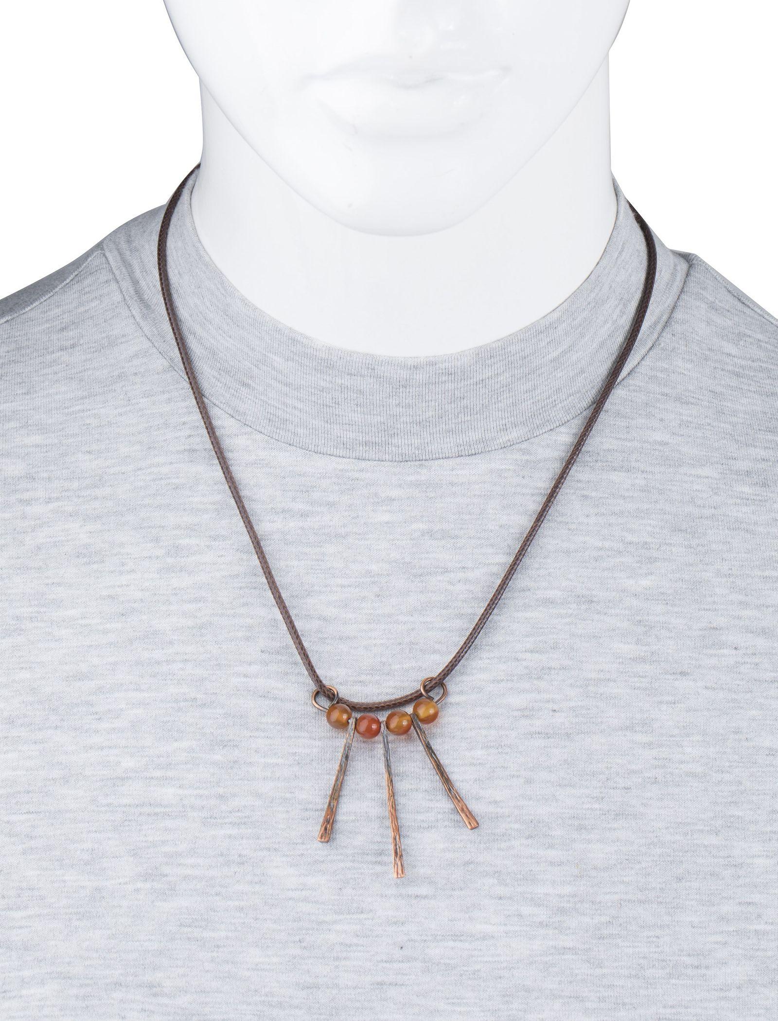 گردنبند آویز زنانه - زرمس تک سایز - قهوه اي - 4