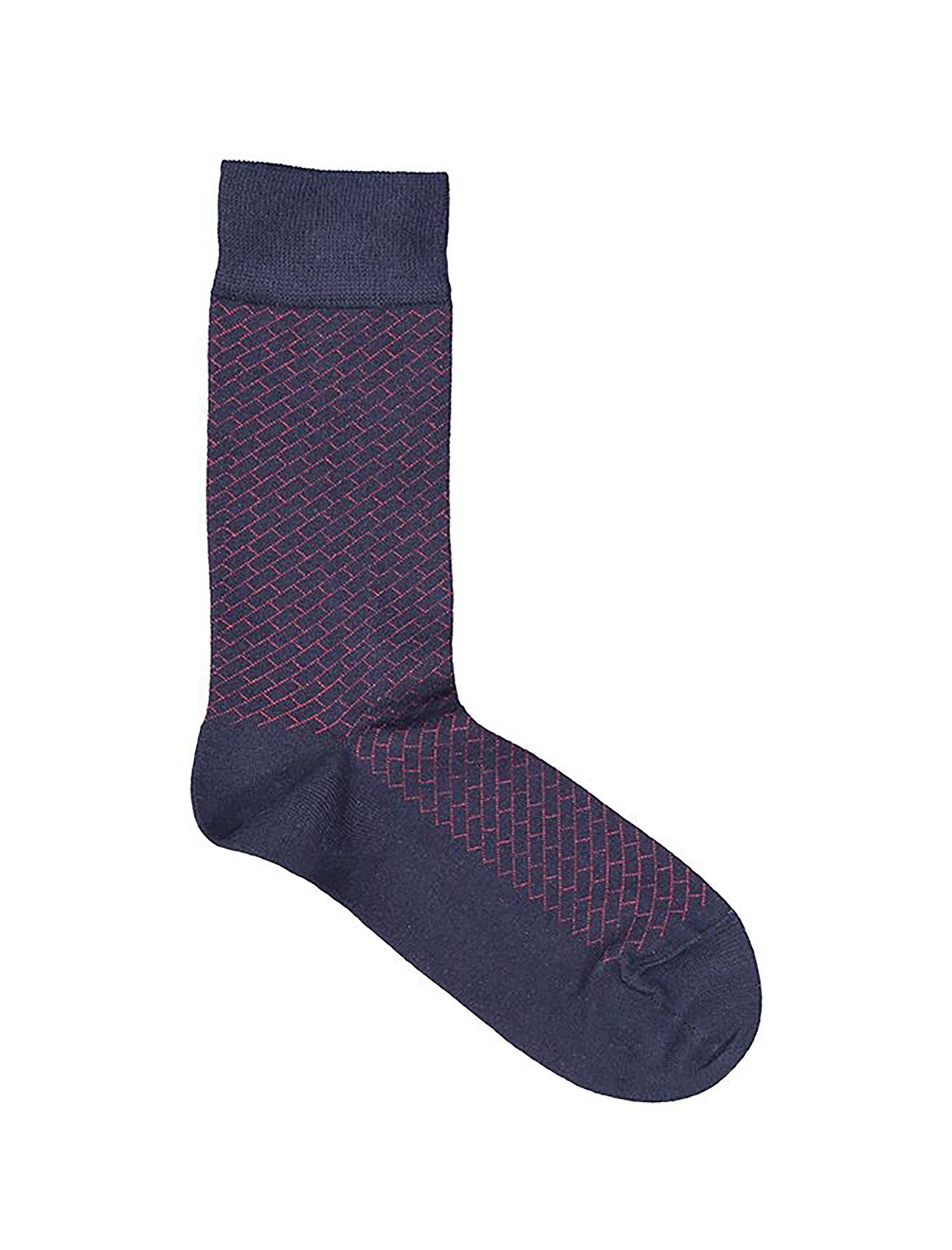 جوراب نخی ساق متوسط مردانه