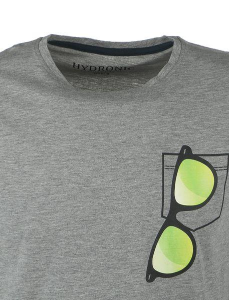 تی شرت نخی یقه گرد مردانه - طوسي - 2