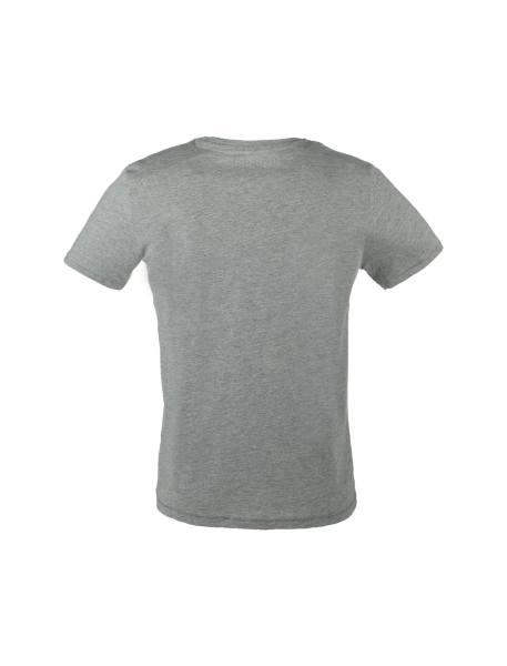تی شرت نخی یقه گرد مردانه - طوسي - 4