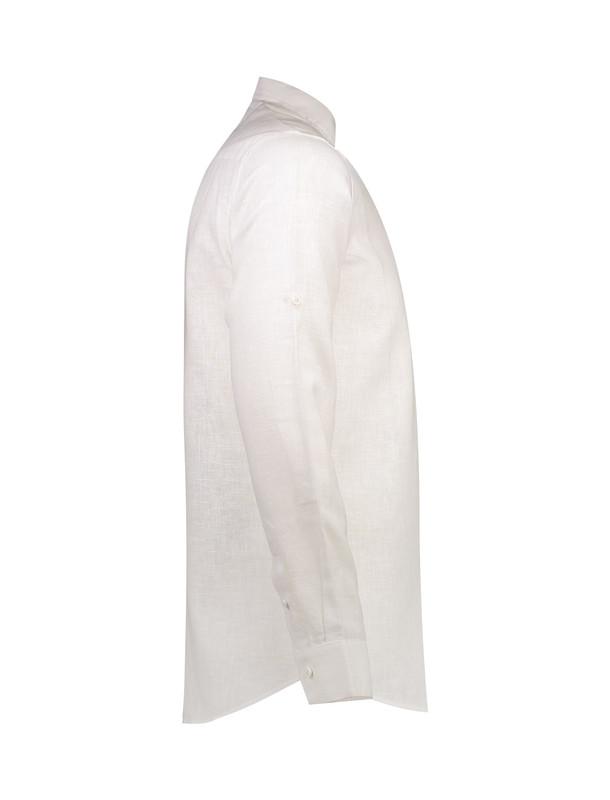 پیراهن نخی یقه ایستاده مردانه