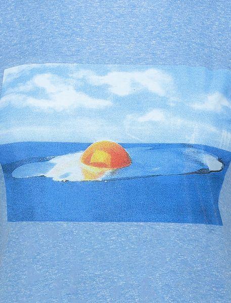 تی شرت یقه گرد زنانه - آبي روشن - 4