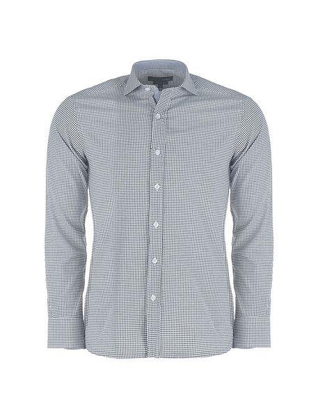 پیراهن آستین بلند مردانه - مشکي و سفيد - 1