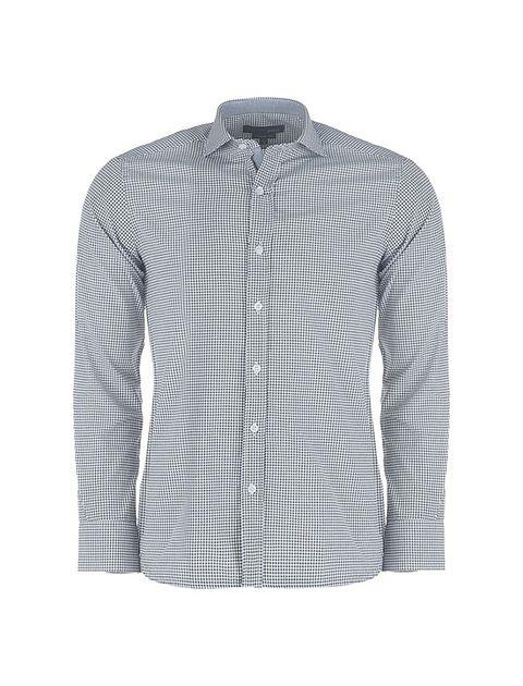 پیراهن آستین بلند مردانه - پاتن جامه - مشکي و سفيد - 1
