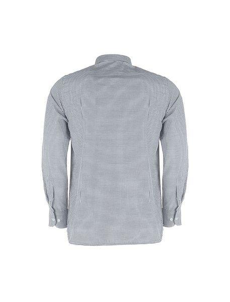 پیراهن آستین بلند مردانه - مشکي و سفيد - 2