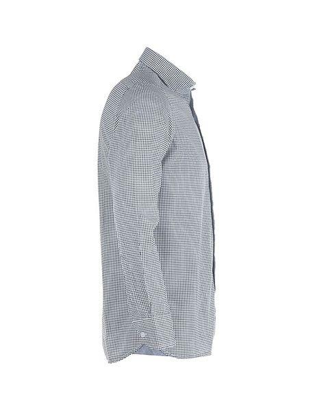 پیراهن آستین بلند مردانه - مشکي و سفيد - 3