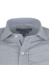 پیراهن آستین بلند مردانه - مشکي و سفيد - 4