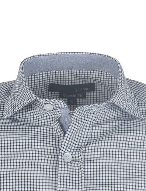پیراهن آستین بلند مردانه - پاتن جامه - مشکي و سفيد - 4