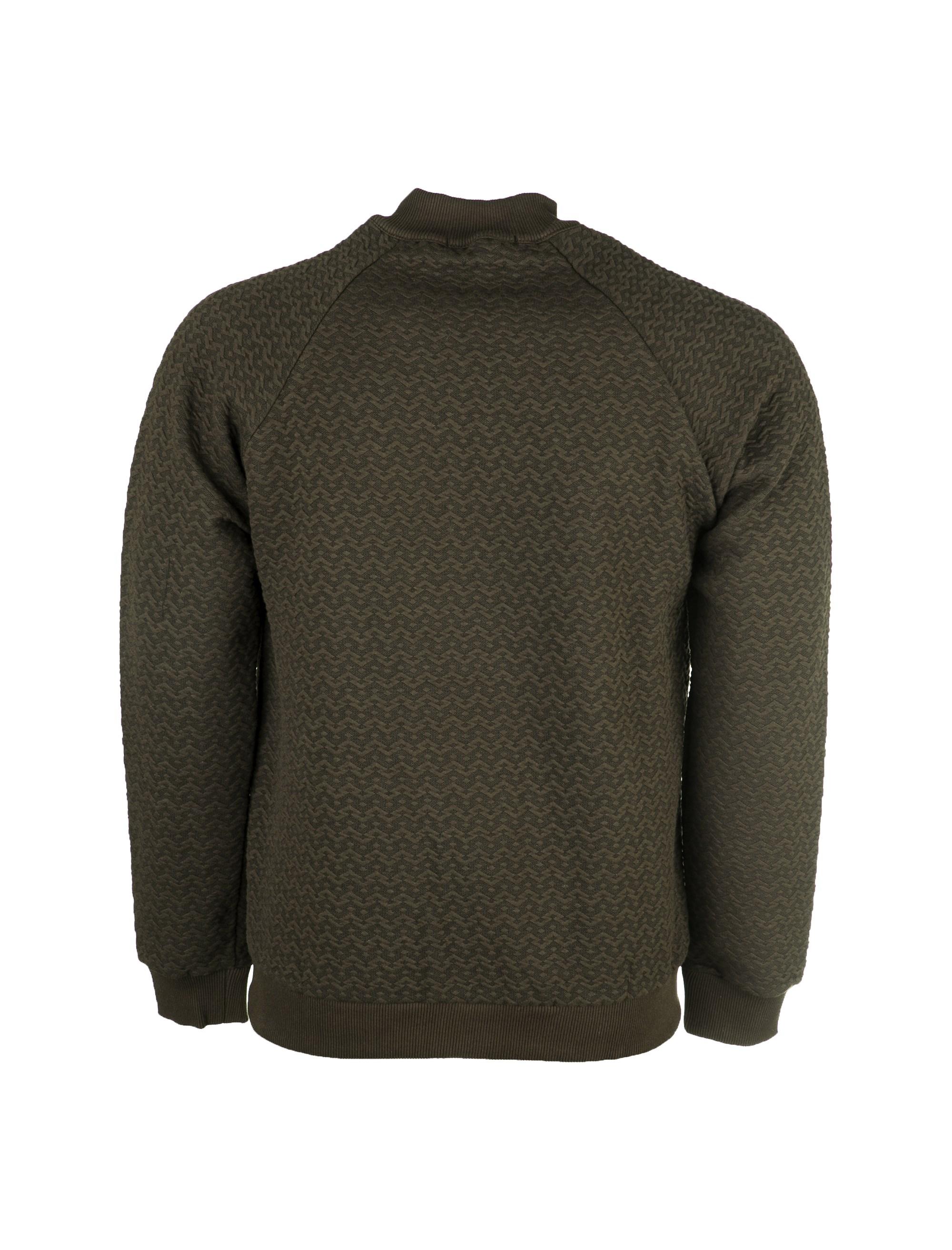 سویشرت نخی زیپ دار مردانه - جامه پوش آرا