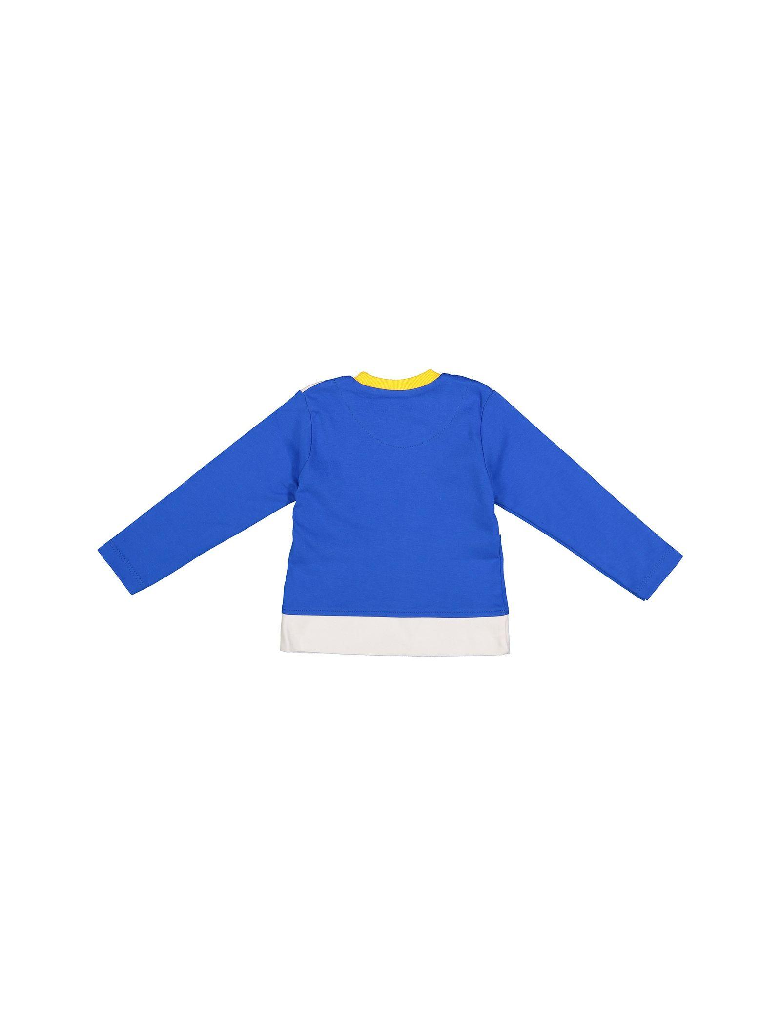 تی شرت نخی یقه گرد پسرانه - سون پون - آبي - 2
