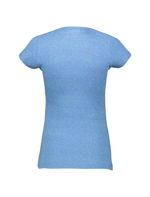 تی شرت یقه گرد زنانه - متی - آبي - 2
