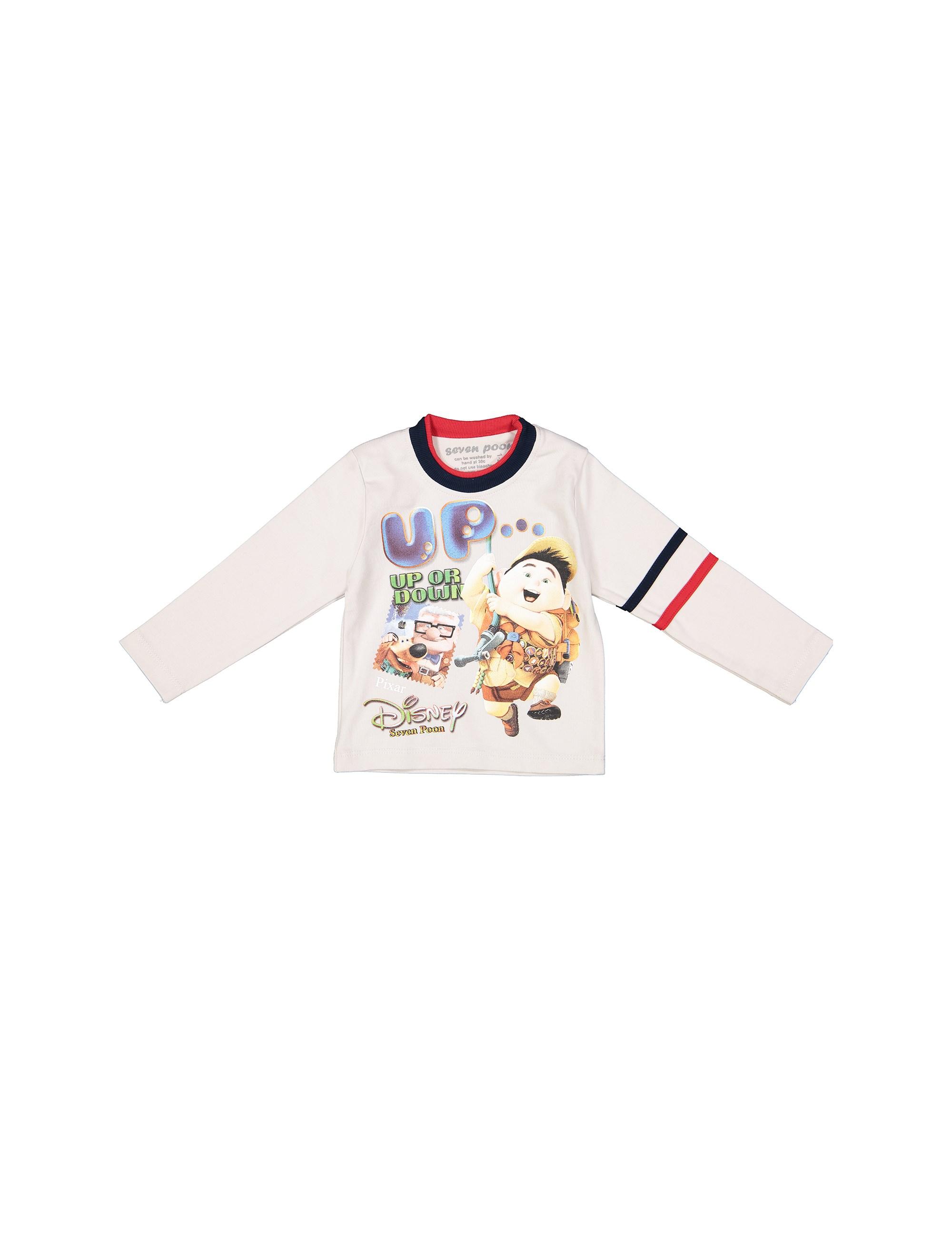 تی شرت نخی یقه گرد پسرانه - سون پون - طوسي روشن - 1
