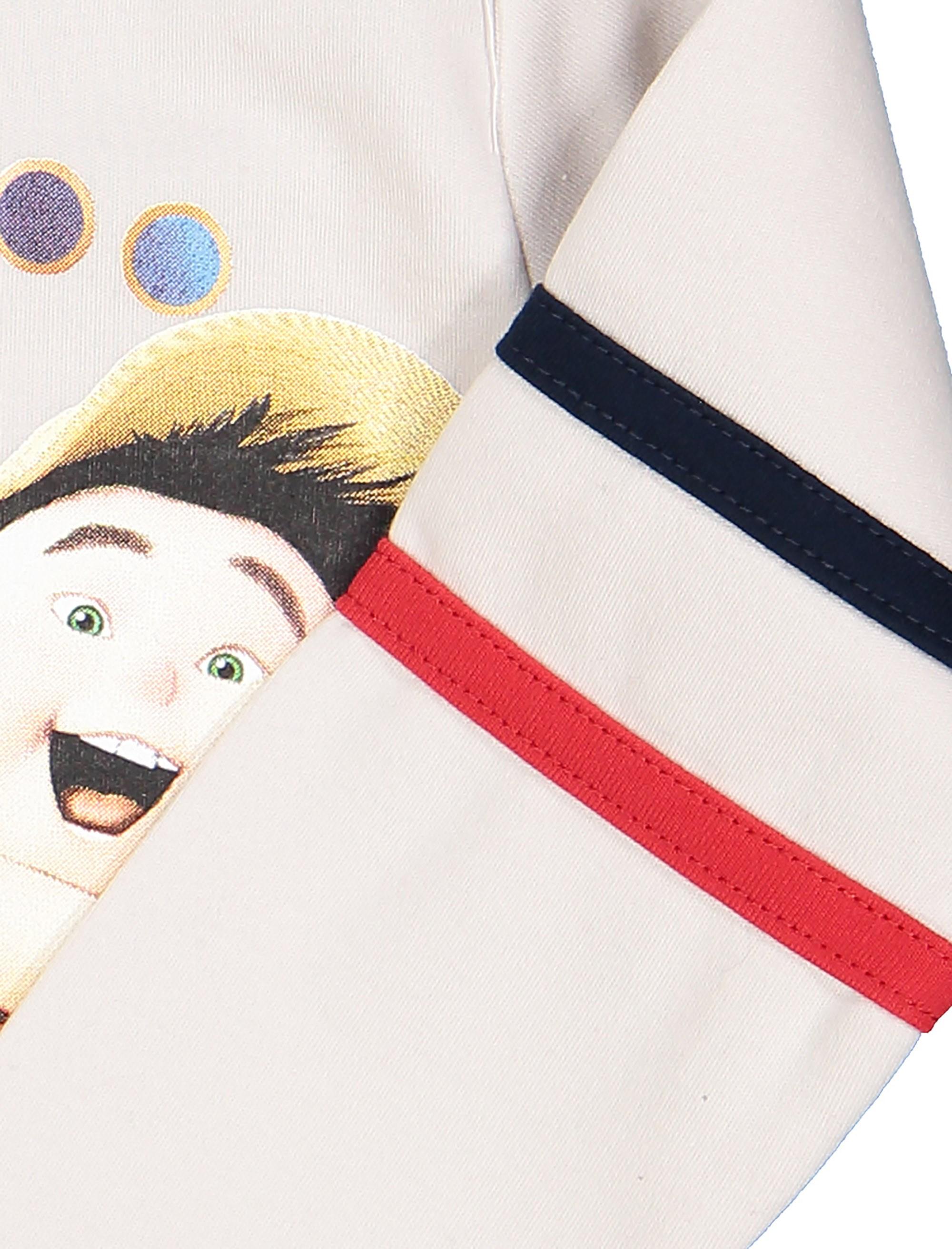 تی شرت نخی یقه گرد پسرانه - سون پون - طوسي روشن - 4