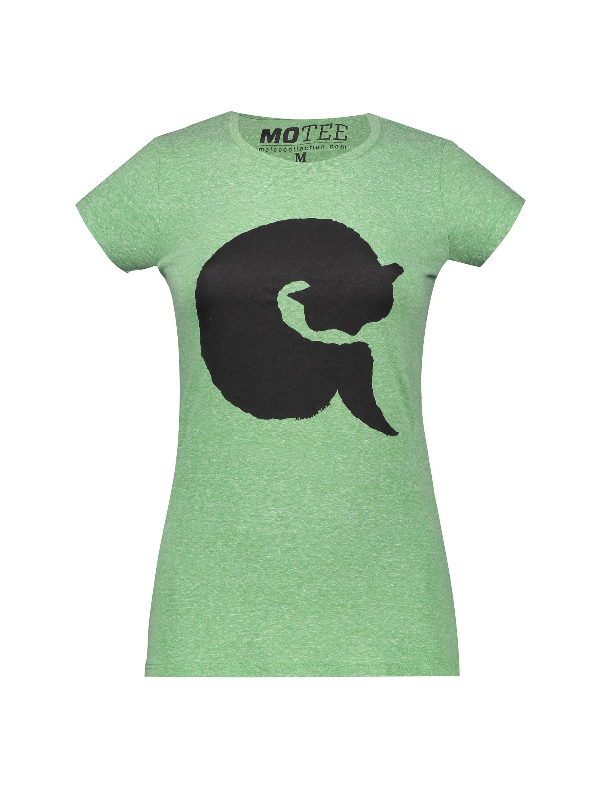 تی شرت یقه گرد زنانه - متی - سبز - 1