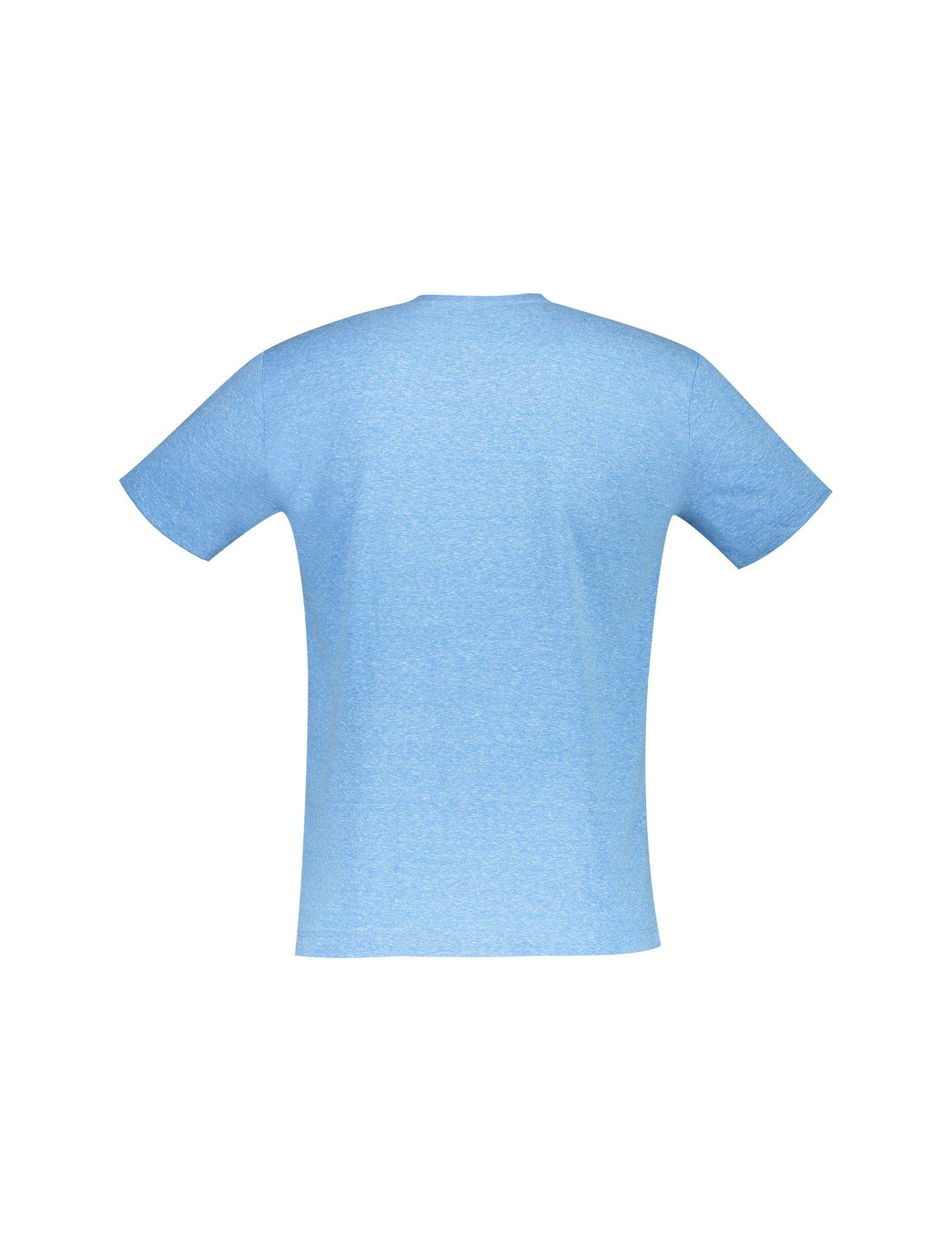 تی شرت یقه گرد مردانه - متی - آبي روشن - 2