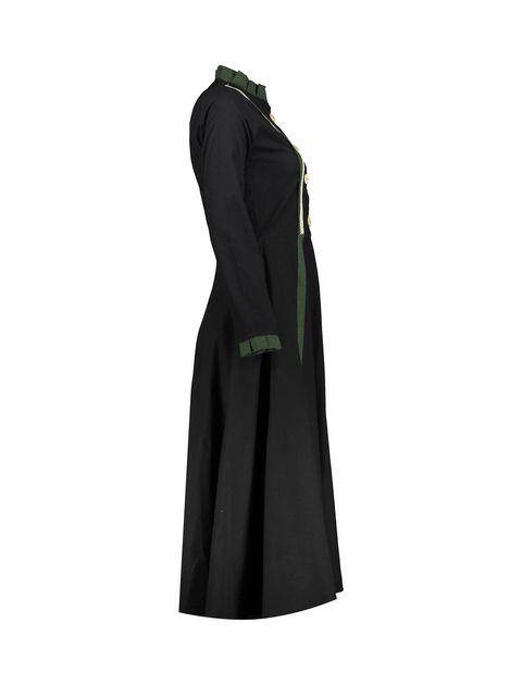 مانتو بلند زنانه - مشکي - 3