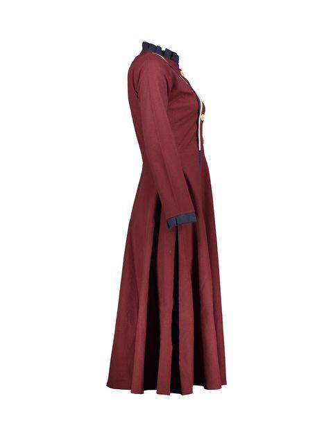 مانتو بلند زنانه - عاطفه نادری - زرشکي - 3