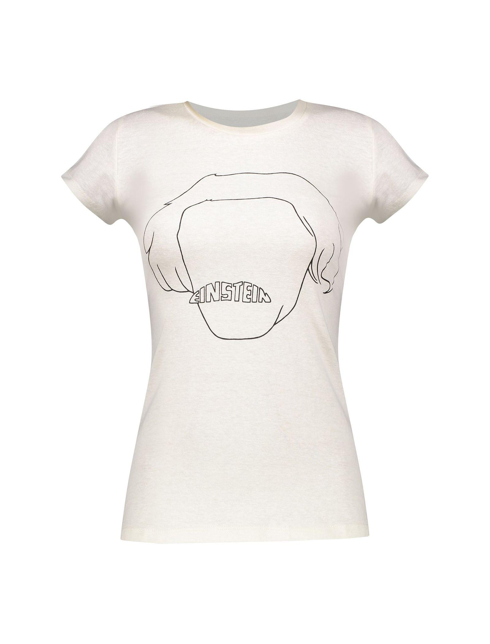 تی شرت یقه گرد زنانه - متی - سفيد - 1
