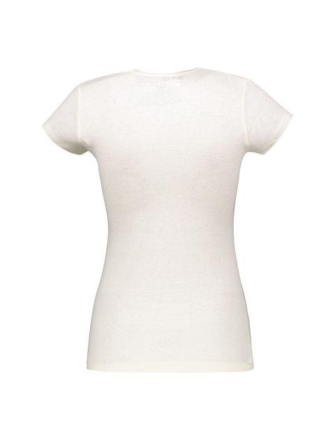 تی شرت یقه گرد زنانه - متی - سفيد - 2