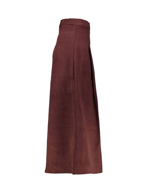 دامن پشمی بلند زنانه - زرشکي - 3