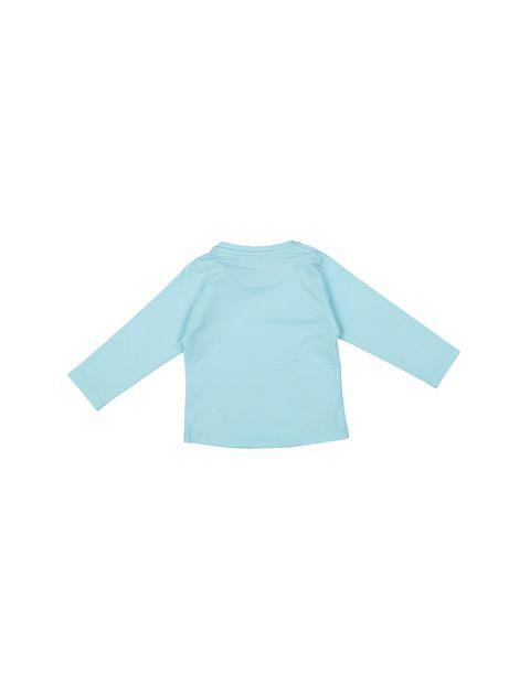تی شرت نخی یقه گرد دخترانه - سون پون - آبي - 2