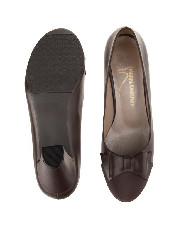 کفش پاشنه بلند چرم زنانه - مارال چرم