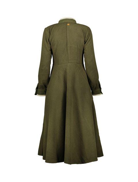 پالتو بلند زنانه - سبز - 2