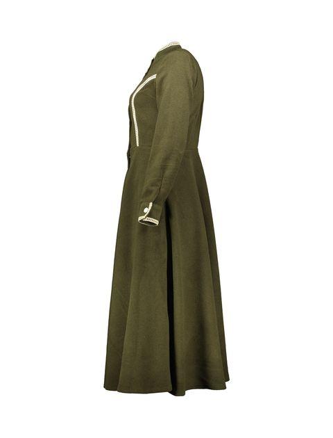 پالتو بلند زنانه - سبز - 3