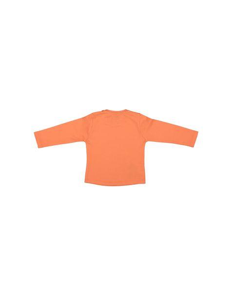 تی شرت نخی یقه گرد دخترانه - سون پون - نارنجي - 2