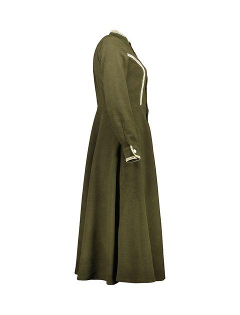 پالتو بلند زنانه - سبز - 4