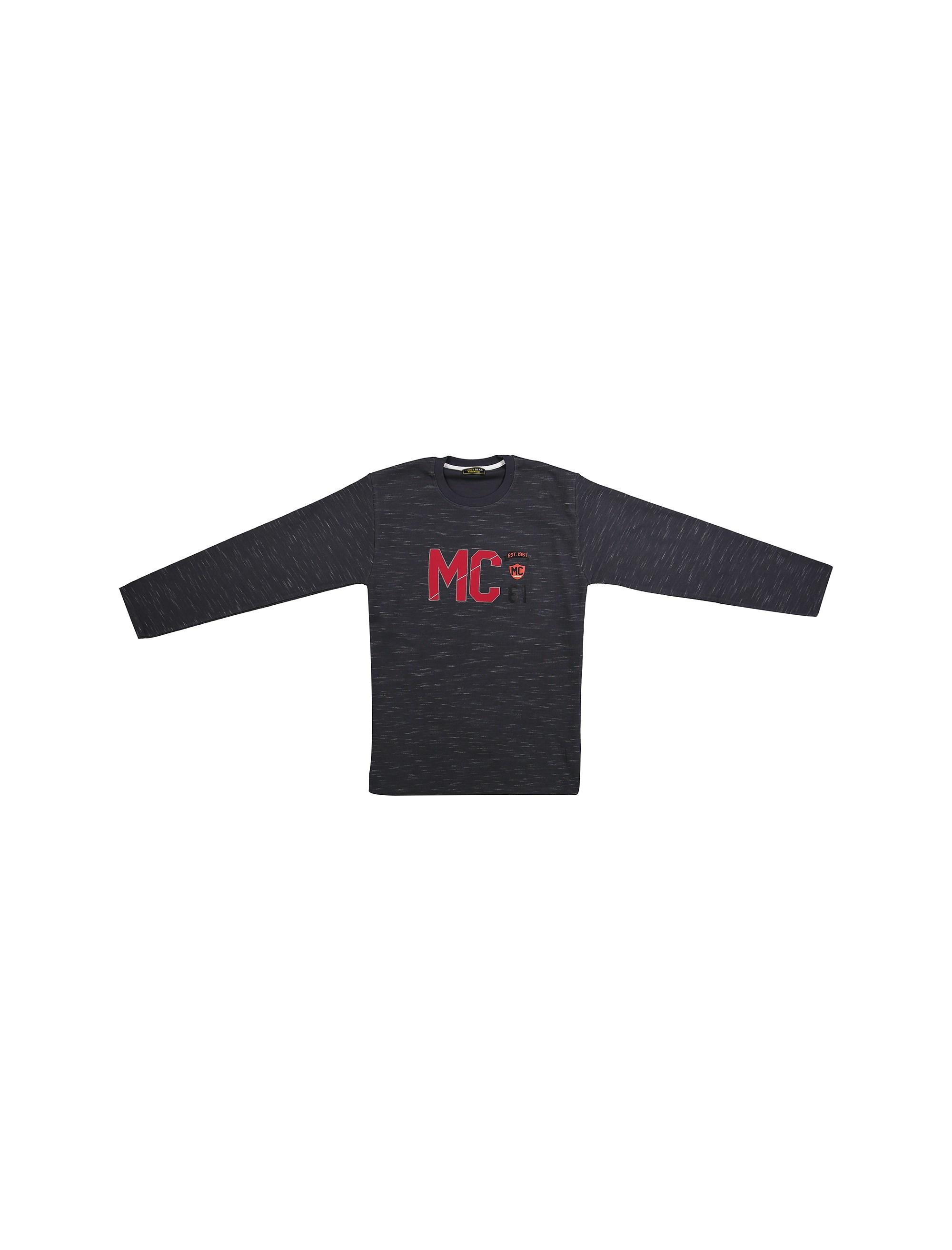 تی شرت نخی آستین بلند پسرانه MC - تدی بیر