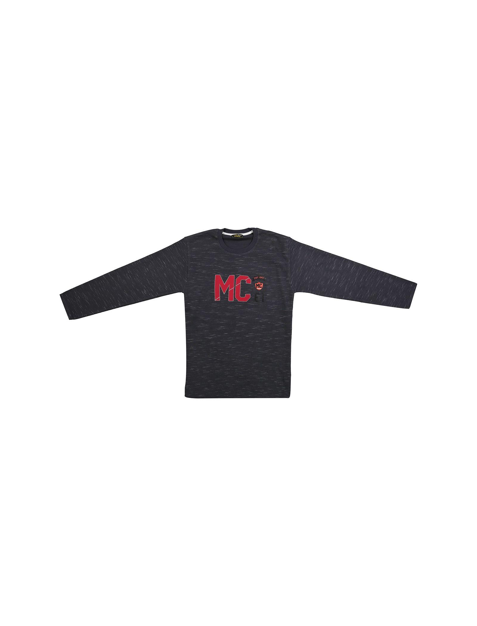 تی شرت نخی آستین بلند پسرانه MC - تدی بیر - دودي  - 1