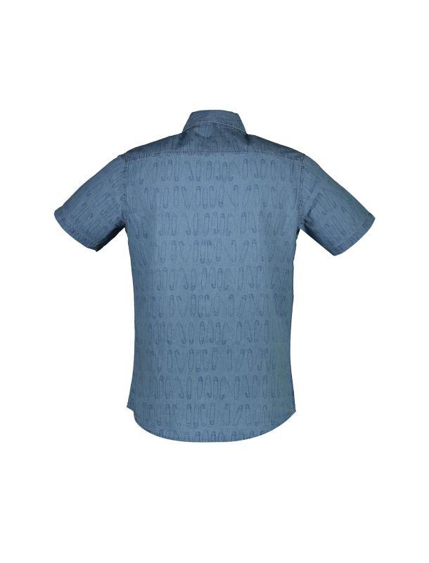 پیراهن نخی آستین کوتاه مردانه - یوپیم