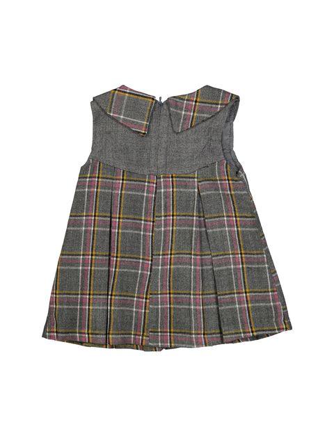 پیراهن روزمره دخترانه مدل 971 - تدی بیر - طوسي - 2