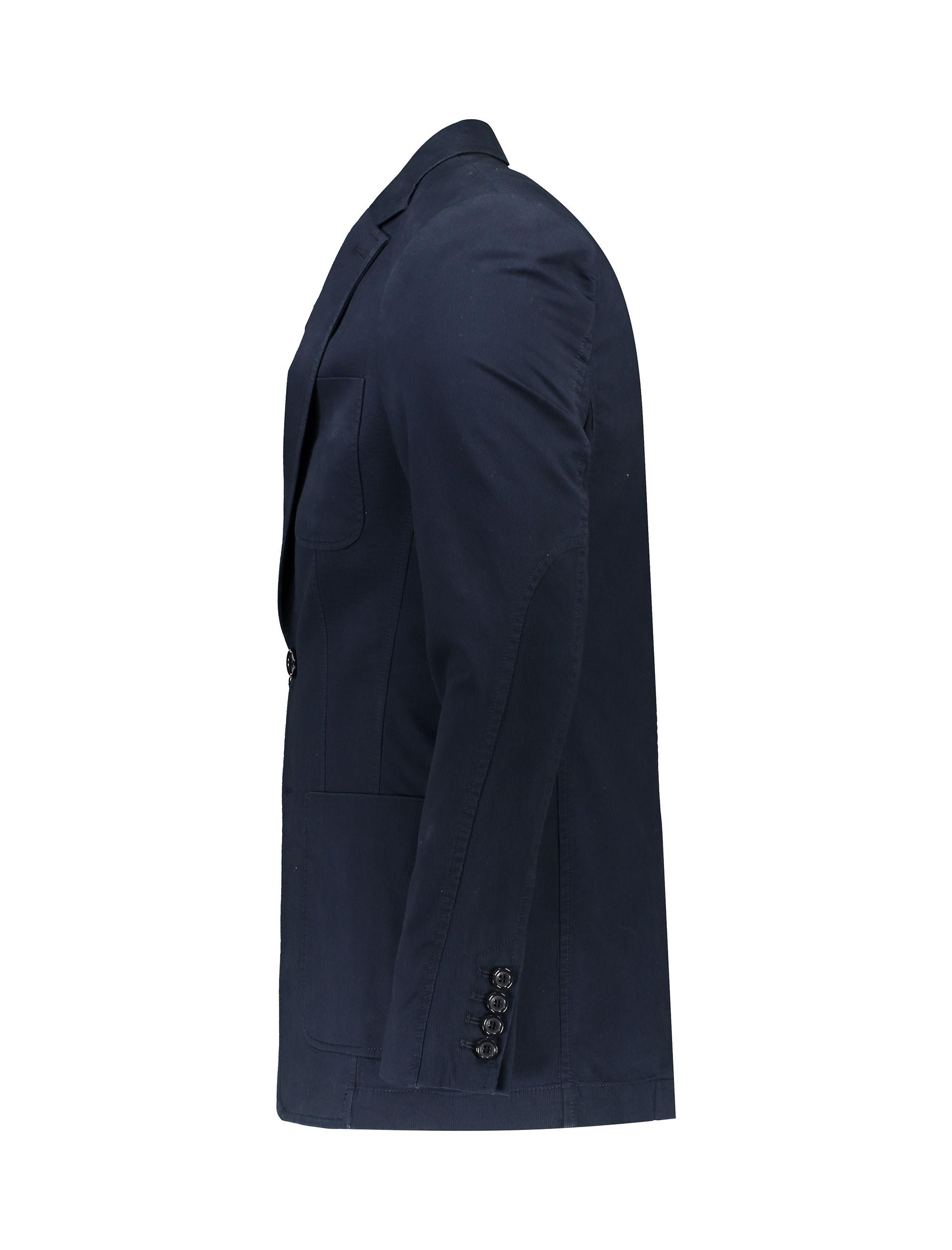 کت تک غیر رسمی نخی مردانه - زاگرس پوش - سرمه اي - 2