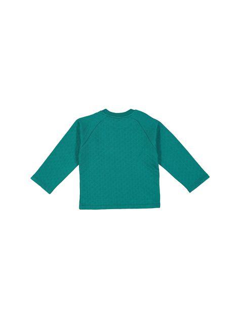 تی شرت و شلوار نخی پسرانه - سون پون - سبز / طوسي - 3