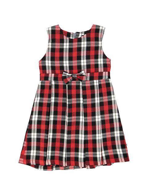 پیراهن روزمره دخترانه مدل 971 - قرمز - 1