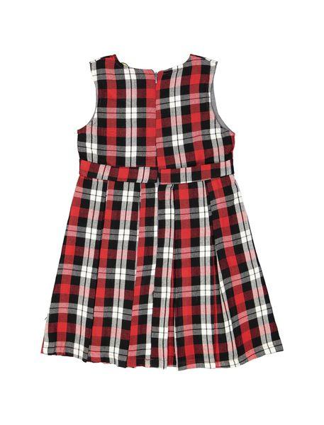 پیراهن روزمره دخترانه مدل 971 - قرمز - 2